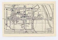 1937 ORIGINAL VINTAGE CITY MAP OF AOSTA / ITALY