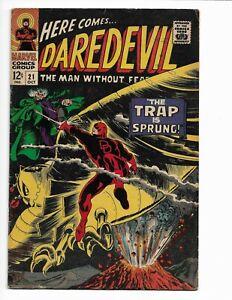 DAREDEVIL 21 - VG+ 4.5 - OWL (1966)