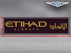 ETIHAD AIRWAYS RECTANGULAR LOGO DECAL / STICKER