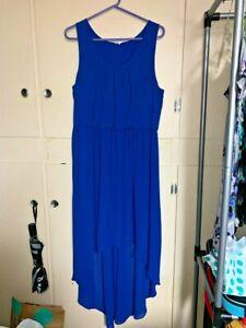 Pretty Dress Studio Y Large Blue High Low Sleeveless Elastic Waist