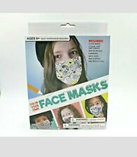 3 Pack Kids Childrens Color Your Own Face Mask DIY Kit Color Decorate Create NEW