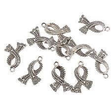 10pcs Scarf Beads Tibetan Silver Charms Pendant Fit DIY Bracelet 20*10mm