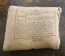 WW2 AUSTRALIAN MADE US MILITARY FIRST AID FIELD DRESSING BANDAGE J & J c. 1943