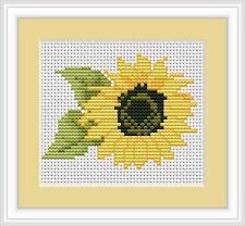 Sunflower Mini Cross Stitch Kit by Luca S B031