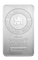 Royal Canadian Mint (RCM) 10oz Silver Bar .9999 Fine in Assay
