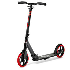 LaScoota Premium Teen Folding Kick Scooter for Age 8 Year and Up, Red (Open Box)
