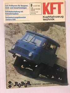 Kraftfahrzeugtechnik KFT 08/1983 Robur LD3000 LD2002 Nissan Micra DDR Geschenk
