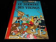 Peyo : Johan et Pirlouit 5 : Le serment des vikings Editions Dupuis 1974