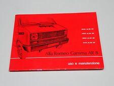 LIBRETTO USO E MANUTENZIONE FURGONE ALFA ROMEO AR 8 APRILE 1978