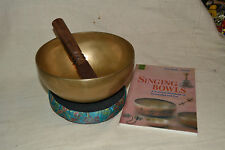 Tibetan Singing Bowl 7,5  inch  Meditation Chakra Therapy Hand made + Free Book