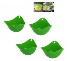 4 Stampi antiaderenti in silicone CUOCI UOVA SENZA GRASSI 8 CM uova in camicia