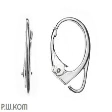 Sterling Silver 925 leverback  earring kz 16 (1 pair)