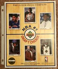 1991 Upper Deck Basketball Commemorative #1 Draft Choice Sheet Larry Johnson +