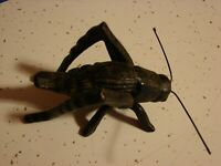 VINTAGE STEEL GRASSHOPPER  CRICKET FIGURINE   4 INCHES LONG 2 1/2 INCHES TALL