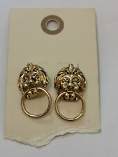 Urban Outfitters, earings, golden knocking lions, 2.5x2 cm,  RRP 14.99
