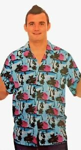 SALE PRICE!! Hawaiian Shirt Blue Up to 38/40 Chest