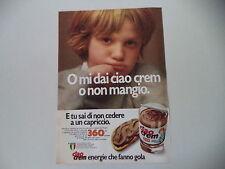 advertising Pubblicità 1979 CIAO CREM STAR
