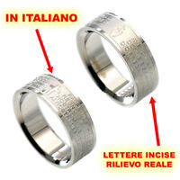 scritta ITALIANO Nostro Anello Padre Amen Ave Maria color argento donna eq