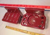 """Vintage *Dark Burgundy* Ceramic Sink Set,  soap dish & tumbler cup holder """"NOS"""""""