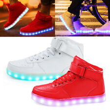 LED Light Lace Up Luminous Shoes Sportswear Sneaker Casual Shoes Unisex High Top