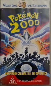 Pokemon 2000 The movie VHS Tape Video Vintage