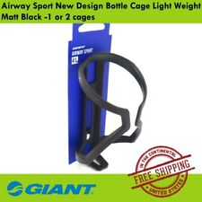 Giant Airway Sport New Design Bottle Cage Light Weight Matt Black -1 or 2 cages