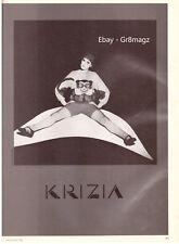 1982 Krizia 2-pg B&W Print Advertisement Sexy Doll Vintage Lance Staedler 1980s