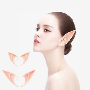 2 Pairs Latex Elf Ears Fairy Pixie Cosplay Party Favors Halloween Costume Props