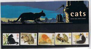 GB Presentation Pack 254 1995 Cats - MNH