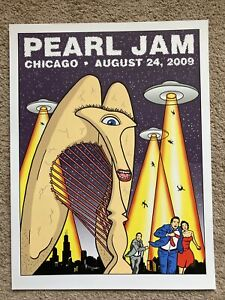 Pearl Jam Official Concert Poster Chicago United Center August 24, 2009 Tomorrow