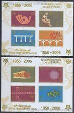 50 JAHRE EUROPAMARKEN CEPT - 2005 JUGOSLAWIEN - BLOCK 59 B + 60 B UNGEZÄHNT **