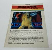 Riddle of the Sphinx Imagic Game Program Instructions