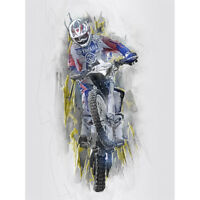 Dirt Bike Motocross Sport Graphic Canvas Wall Art Print