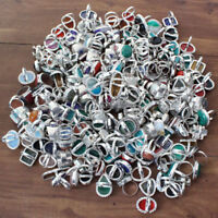 150ps Opalite $ Mix Gemstone 925 sterling silver overlay wholesale lot rings MJ2