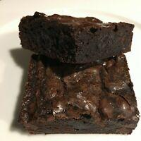 Nana's Ultimate Fudge Brownies 1 dozen Decadent & Rich Made Fresh From Scratch
