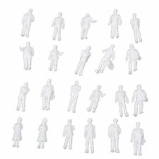 100pcs HO Scale 1:100 White Model People Unpainted Train Figures T8P2
