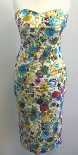 Marc Angelo Bandeau Floral Midi Dress Ladies UK Size 8 BOX7404 i