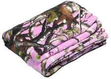 NEXT VISTA PINK CAMO CAMOUFLAGE THROW BLANKET - CORAL FLEECE - 48 x 60