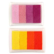 Gradient Red Multicolor Ink Stamp Pad Inkpad Washable Kids Ink Stamp HY