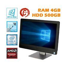 """AIO ALL IN ONE DELL OPTIPLEX 9030 23"""" FHD I3 4130S 4GB HDD 500GB AMD RADEON-"""