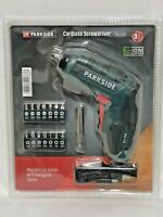 Parkside Screwdriver PAS 4 D5 Cordless USB Cable Set Bits Included New Sealed