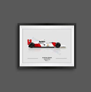 Ayrton Senna McLaren MP4/7A F1 Print - Scuderia GP