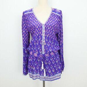 Altered SPELL Size L Bohemian Royale Playsuit Purple Long Blouse Vintage Boho