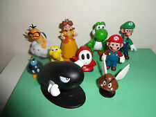 SUPER MARIO AND CHARACTERS CAKE TOPPERS 10 FIGURES  BN FREE P+P