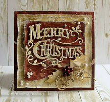 Merry Christmas Holly Leaves Metal Cutting Dies Scrapbooking Embossing Album DIY