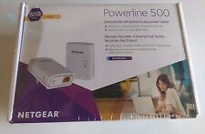 NEW NETGEAR 500 Mbps POWERLINE ADAPTER NANO ETHERNET KIT
