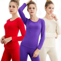 Long Johns for Women Winter Thermal Underwear Suit Ladies Thermal Underwear Set