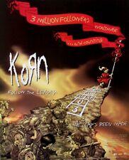 KORN 1999 POSTER ADVERT FOLLOW THE LEADER