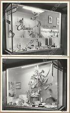 1950s LAGUNA BEACH Mid Century Xmas Window Display COLEMAN'S 290 FOREST AVENUE