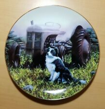 "Danbury Mint Border Collie Collector Plate - ""Farmer's Friend"", excellent cond."